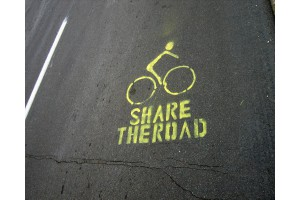 """""""Share-the-Road""""-stencils-bike-ride-action-and-book-2007"""